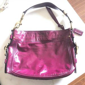 Authentic Coach patent leather plum / purple berry